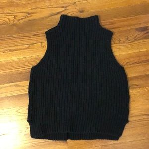 Madewell turtleneck sleeveless sweater